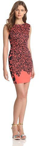 French Connection Women's Animal Mechanical Cap Sleeve Dress