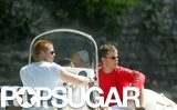 Brad Pitt and Matt Damon looked picture-perfect while boating on Lake Como in June 2004.