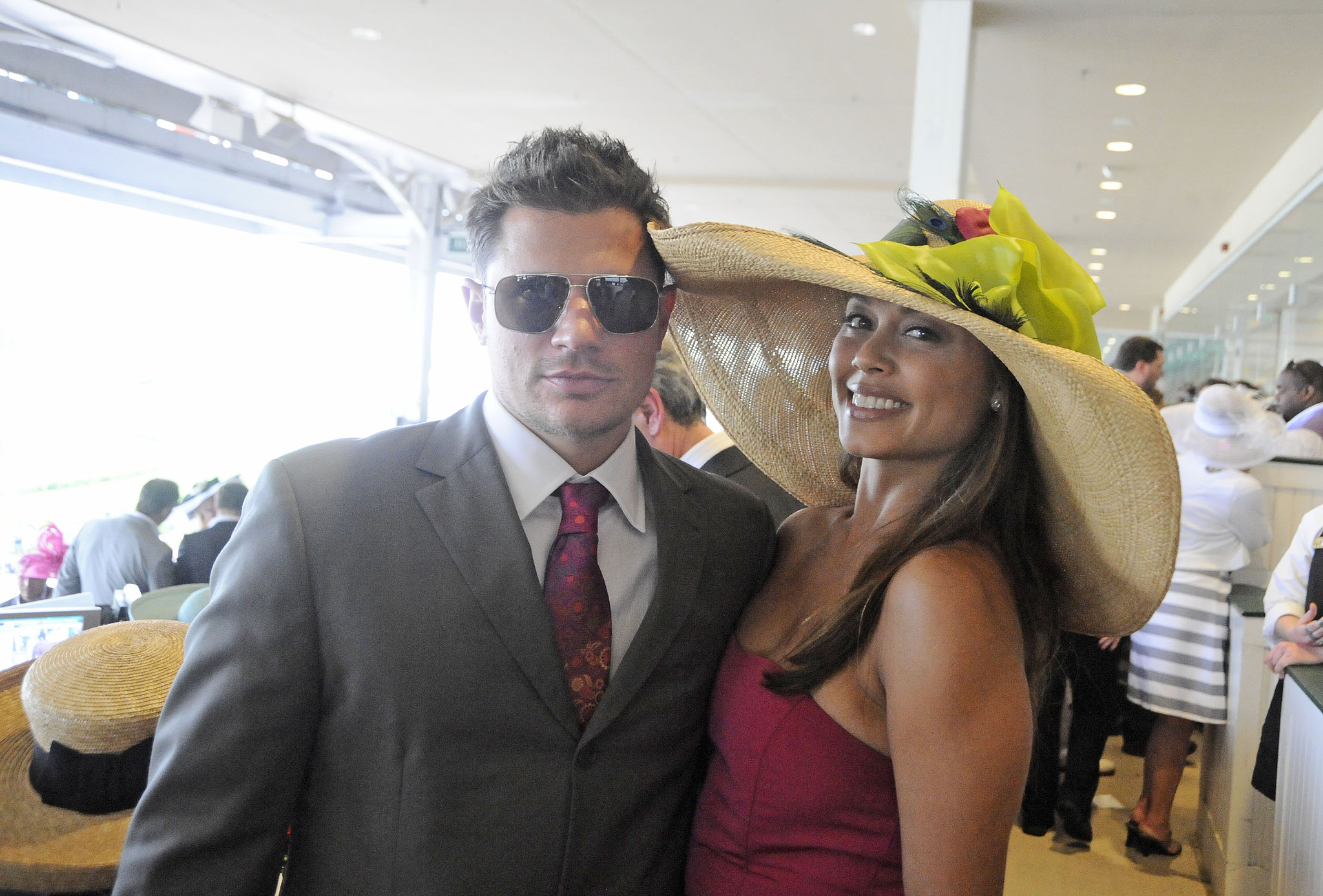 Nick Lachey and Vanessa Minnillo were off to the races in 2010.