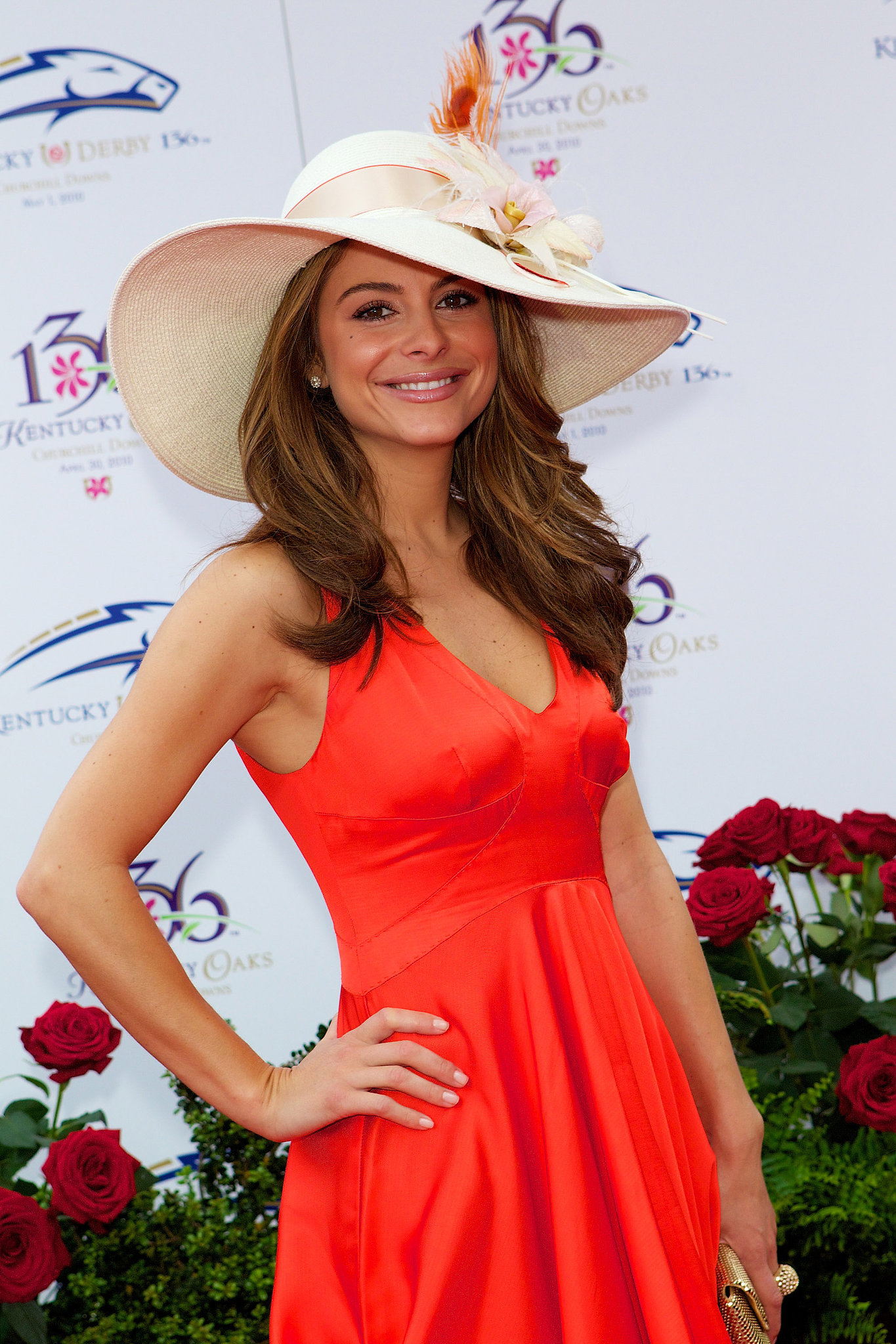 Maria Menounos brought a bright look to the 2010 festivities.