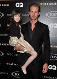 Alexander Skarsgard Plays Dad For the Night Alongside Julianne Moore