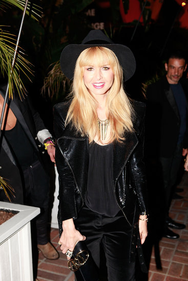 Rachel Zoe wore a black hat.