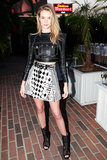 Rosie Huntington-Whiteley went for a graphic ensemble.