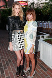 Nicole Richie mingled with Rosie Huntington-Whiteley at the Balmain bash.