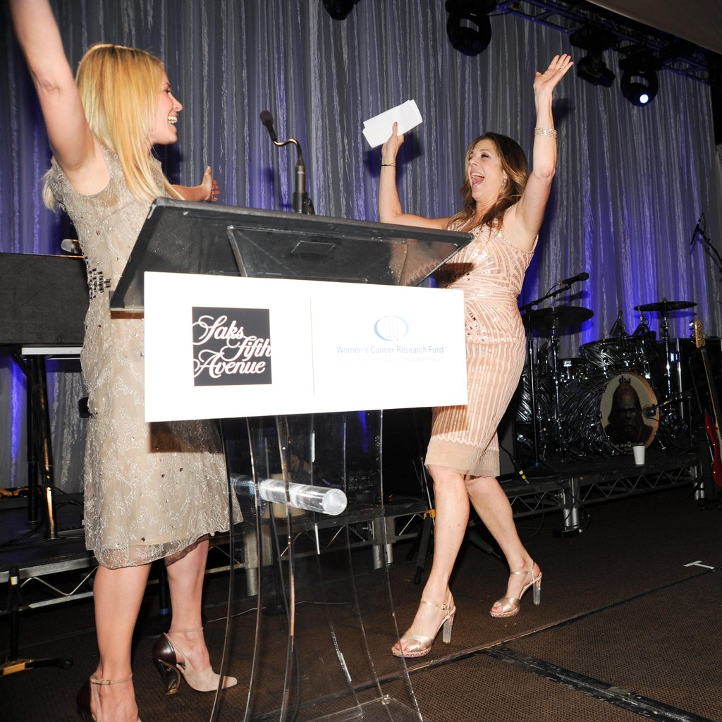 Chelsea Handler and Rita Wilson had fun on stage at the EIF dinner in Beverly Hills.