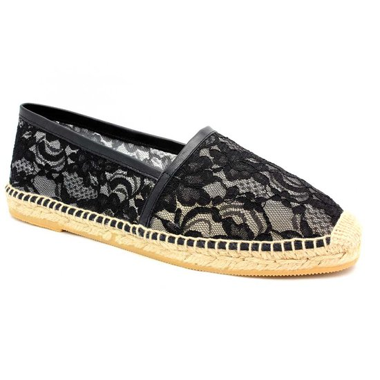 We love the delicate lace detail on Bettye Muller's espadrille ($150).