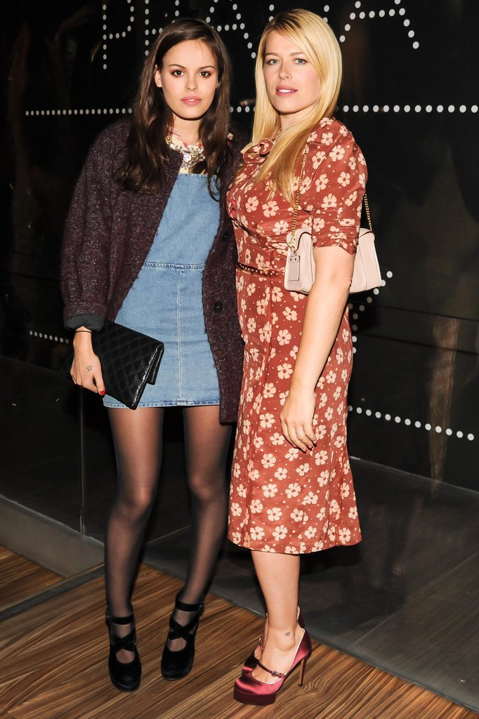 Atlanta de Cadenet Taylor and Amanda de Cadenet at the Catherine Martin and Miuccia Prada Dress Gatsby opening cocktail party in New York. Source: Billy Farrell/BFAnyc.com