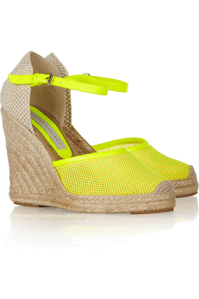 Stella McCartney's faux leather espadrilles ($430) will inject a bright pop of color to any warm-weather look.