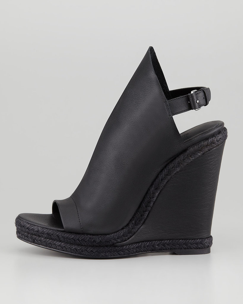 For a more subversive take on espadrilles, try out Balenciaga's glove wedge espadrille ($695).