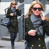Nicky Hilton braved the crisp NYC weather in an army-green peacoat, moto boots, and these Childen of California ($180) sunglasses by Westward Leaning.