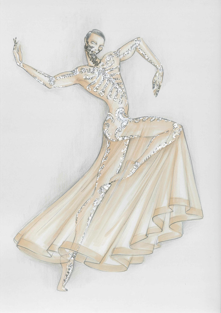 Tisci's sketch of the costume. Source: Opéra National de Paris