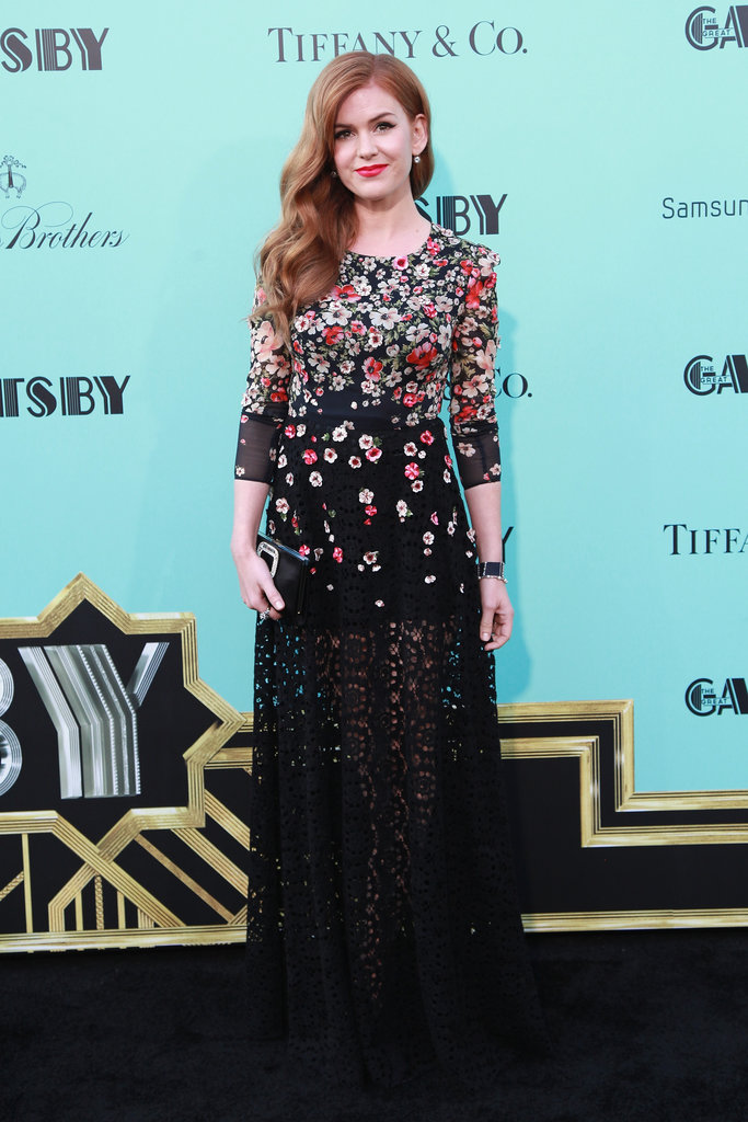 Isla Fisher glowed in a floral-covered Dolce & Gabbana confection at The Great Gatsby's world premiere in NYC.