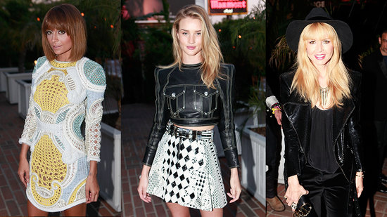 Nicole and Rosie Huntington-Whiteley Look Fierce in Balmain