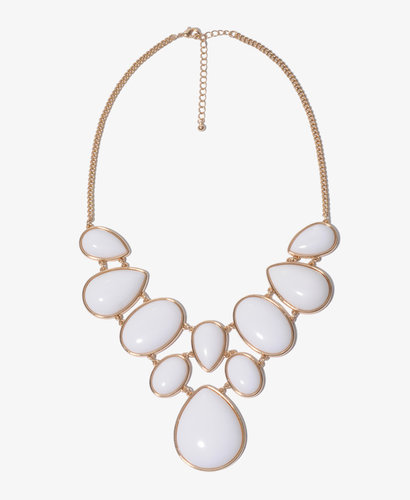 FOREVER 21 Bejeweled Bib Necklace