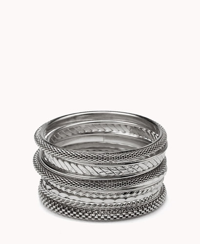 FOREVER 21 Chain-Link Bangle Set