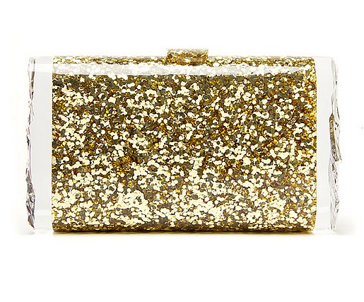 Edie Parker's confetti clutch ($995) is a glitter-lover's heaven. It'll definitely garner attention on your big night.