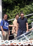 Vincent Cassel boarded a boat while visiting George Clooney at Lake Como in June 2004.