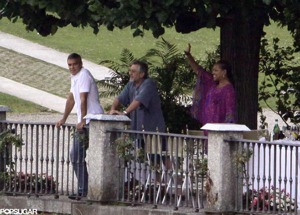 Geroge Clooney, Robert De Niro, and Grace Hightower spent time together in Lake Como in July 2009.