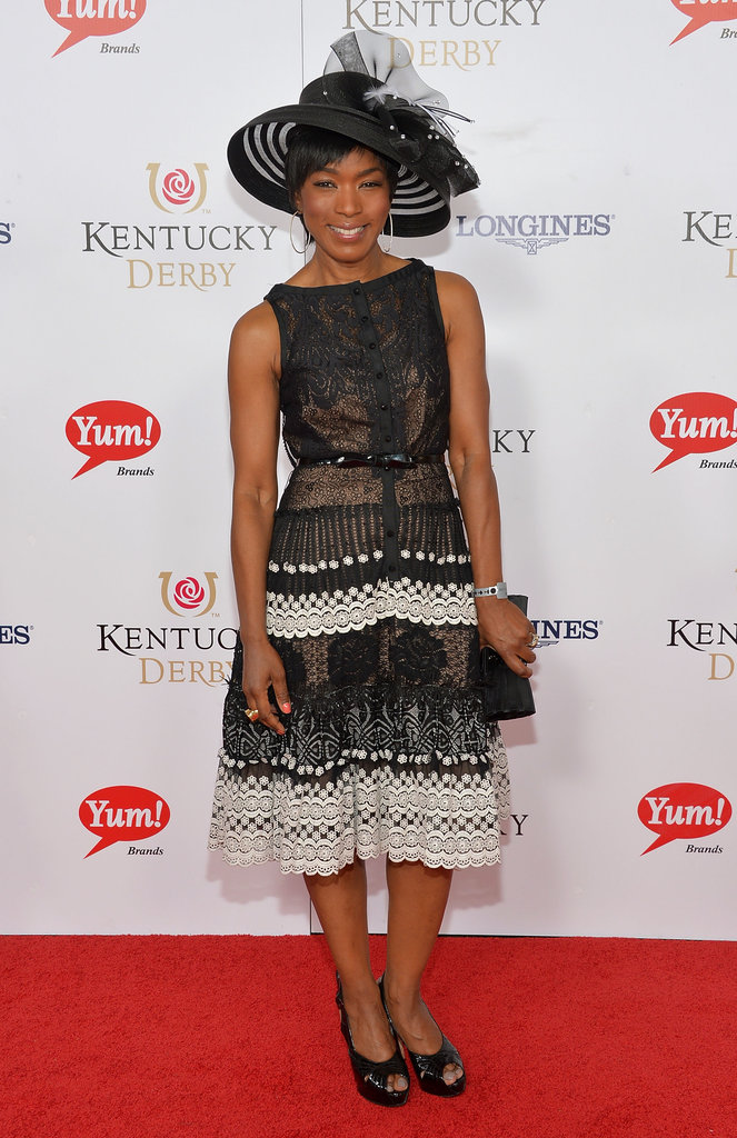 Angela Bassett joined in on Saturday's Derby fun.