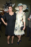 Jennifer Tilly and Krysten Ritter wore over-the-top hats to the Derby on Saturday.