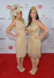 Lauren Conrad and Jen Fruzzetti arrived at the races on Saturday.