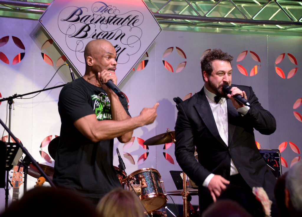 Joey Fatone shared the stage at the Barnstable Brown Gala on Friday.