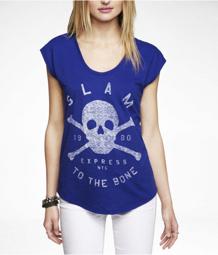 Slub Dolman Graphic Tee - Glam To The Bone