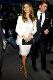 Gisele Bündchen arrived at the Dolce & Gabbana store opening in NYC on Saturday night.