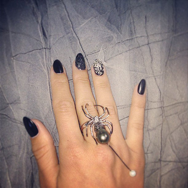 Julianne Hough gave us a glimpse of her edgy-cool spider ring. Source: Instagram user juleshough