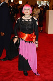 Zandra Rhodes at the Met Gala.