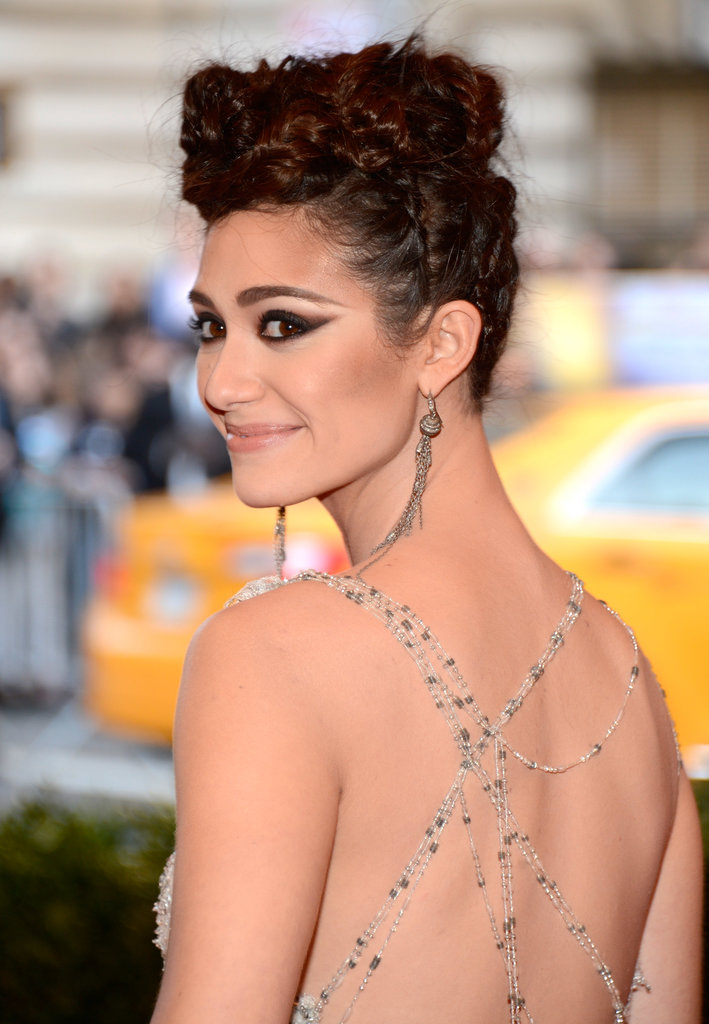 Braids can make for a seriously edgy up'do. Just ask Emmy Rossum at this year's Met Gala.