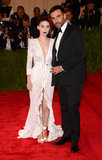 Rooney Mara's white zippered Givenchy gown paired perfectly with her  black lipstick — as well as her handsome date, Riccardo Tisci.