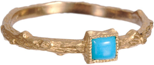 Cathy Waterman Turquoise Branch Ring