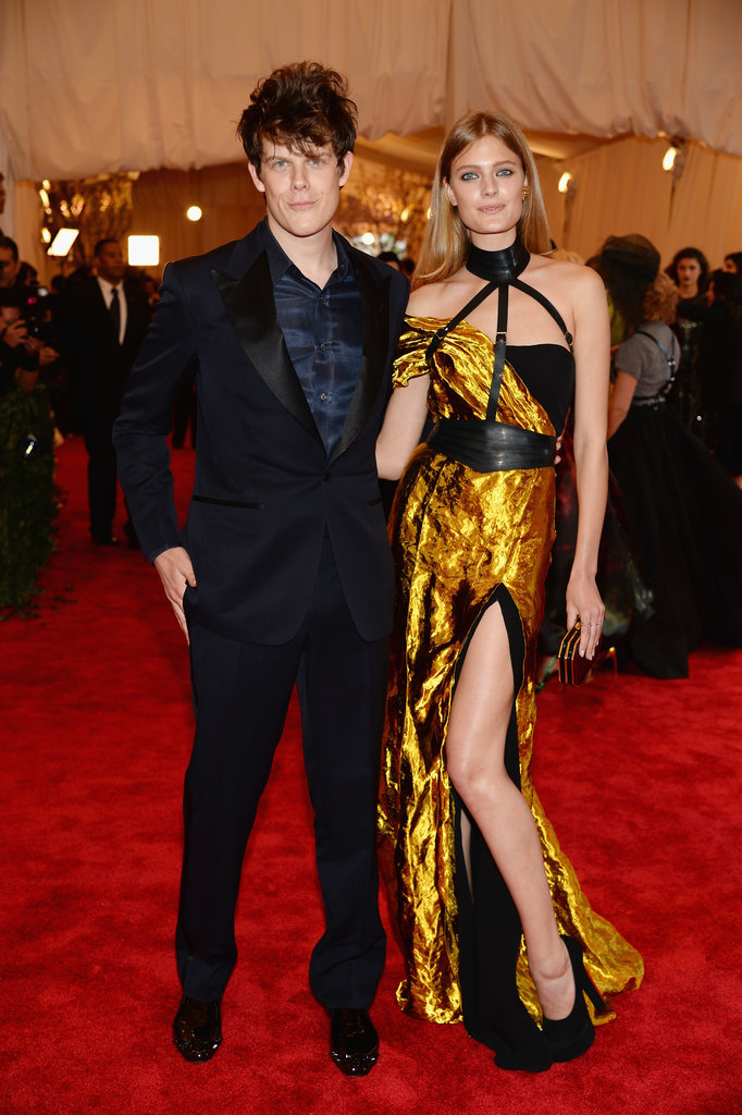 Wes Gordon and Constance Jablonski, who wore one of the designer's looks.