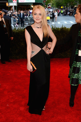 Dakota Fanning at the Met Gala 2013.