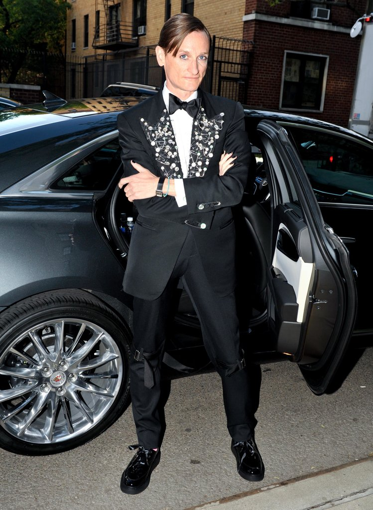 Hamish Bowles wore customized Tom Ford. Source: Leandro Justen/BFAnyc.com