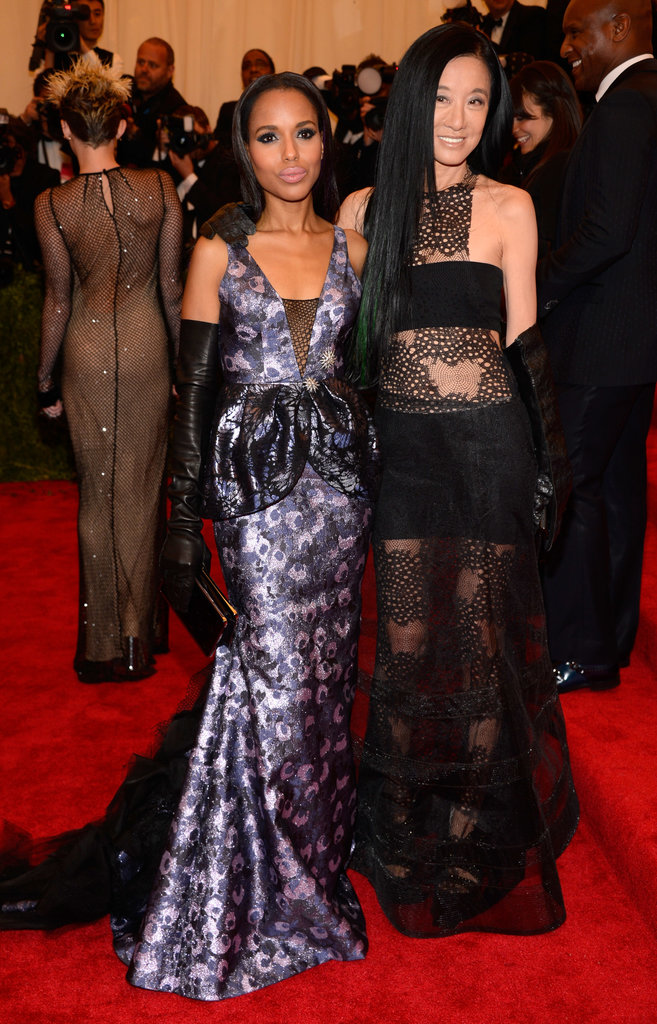 Kerry Washington and Vera Wang at the Met Gala 2013.