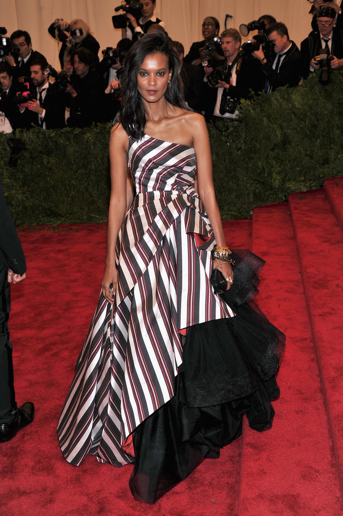 Liya Kebede wore Alberta Ferretti to the 2103 Met Gala.