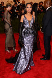 Kerry Washington rocked a custom metallic floral Vera Wang gown with black opera gloves and Christian Louboutin Pigalle pumps.