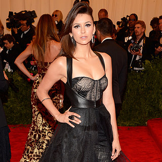 Nina Dobrev on Met Gala 2013 Red Carpet