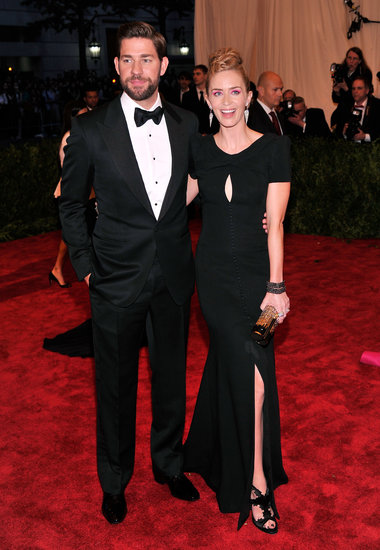 John Krasinski and Emily Blunt at the Met Gala 2013.