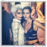 Nicole Richie posed with Jessica Hart at the Met Gala. (It was her shout out to Australia.)  Source: Instagram user nicolerichie