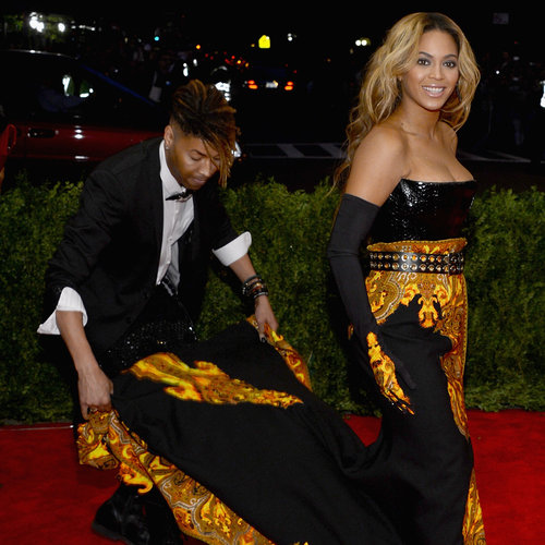 Beyonce's Personal Dress Train Assistant at 2013 Met Gala