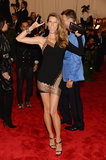Gisele Bündchen wore custom Anthony Vaccarello at the 2013 Met Gala.