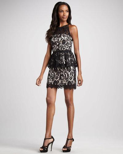 Milly Liza Lace Peplum Dress