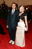 Gwen Stefani held hands with Gavin Rossdale on the Met Gala red carpet in NYC in May 2013.