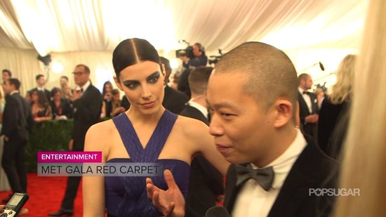 "Jessica Paré and Jason Wu Chat About Punk Inspiration and ""Lame"" Tattoos at Met Gala"