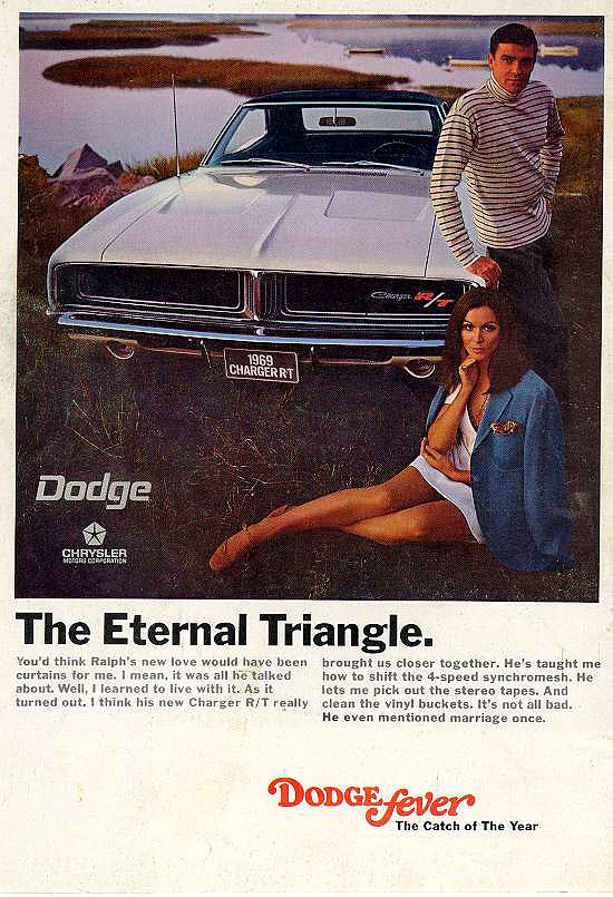 "References to a three-way will give men ""Dodge fever."""