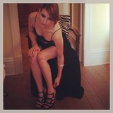 Emma Roberts got suited up in her DVF gown and Walter Steiger heels. Source: Instagram user emmaroberts6