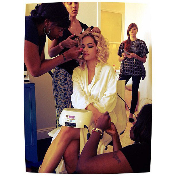 Rita Ora got her glam on ahead of the Met Gala.  Source: Instagram user RitaOra